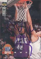 Vin Baker Milwaukee Bucks 1995 UD Collectors Choice Tip Offs Autographed Card. This item comes with a certificate of authenticity from Autograph-Sports. PSM-Powers Sports Memorabilia