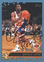 Charlie Ward New York Knicks 2001 Topps Autographed Card. This item comes with a certificate of authenticity from Autograph-Sports. PSM-Powers Sports Memorabilia
