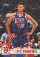 P.J. Brown New Jersey Nets 1994 Hoops Rookie Autographed Card - Rookie Card. This item comes with a certificate of authenticity from Autograph-Sports. PSM-Powers Sports Memorabilia
