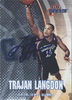 Trajan Langdon Cleveland Cavaliers 2001 Fleer Gametime Foil Autographed Card. This item comes with a certificate of authenticity from Autograph-Sports. PSM-Powers Sports Memorabilia