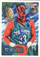 Alonzo Mourning Charlotte Hornets 1993 Fleer Art Autographed Card. This item comes with a certificate of authenticity from Autograph-Sports. PSM-Powers Sports Memorabilia