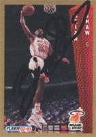 Brian Shaw Miami Heat 1992 Fleer Autographed Card. This item comes with a certificate of authenticity from Autograph-Sports. PSM-Powers Sports Memorabilia