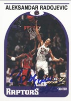 Aleksandar Radojevic Toronto Raptors 1999 Skybox X Autographed Card - Rookie Card. This item comes with a certificate of authenticity from Autograph-Sports. PSM-Powers Sports Memorabilia