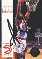 Andrew Lang Atlanta Hawks 1993 Skybox Autographed Card. This item comes with a certificate of authenticity from Autograph-Sports. PSM-Powers Sports Memorabilia