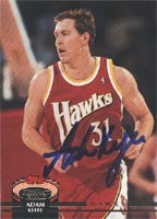Adam Keefe Atlanta Hawks 1992 Stadium Club Autographed Card. This item comes with a certificate of authenticity from Autograph-Sports. PSM-Powers Sports Memorabilia
