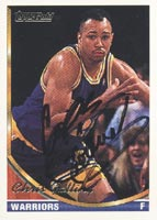Chris Gatling Golden State Warriors 1993 Topps Gold Autographed Card. This item comes with a certificate of authenticity from Autograph-Sports. PSM-Powers Sports Memorabilia
