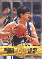 Cherokee Parks Duke Blue Devils - Dallas Mavericks 1995 Press Pass Premium Draft Picks Authentic Autographed Card - Certified Autograph - Rookie Card. This item comes with a certificate of authenticity from Autograph-Sports. PSM-Powers Sports Memorabilia
