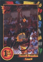 Terrell Brandon Oregon Ducks 1992 Wild Card Autographed Card - Rookie Card. This item comes with a certificate of authenticity from Autograph-Sports. PSM-Powers Sports Memorabilia