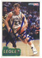 Tim Legler Dallas Mavericks 1994 Fleer Autographed Card - Nice Card. This item comes with a certificate of authenticity from Autograph-Sports. PSM-Powers Sports Memorabilia