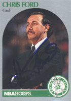 Chris Ford Boston Celtics 1990 NBA Hoops Autographed Card - Nice Card. This item comes with a certificate of authenticity from Autograph-Sports. PSM-Powers Sports Memorabilia