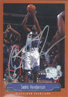 Cedric Henderson Cleveland Cavaliers 1999 Topps NBA Tipoff Autographed Card - Nice Card. This item comes with a certificate of authenticity from Autograph-Sports. PSM-Powers Sports Memorabilia