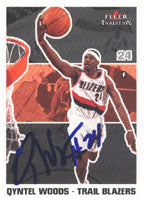 Qyntel Woods Portland Trail Blazers 2003 Fleer Tradition Autographed Card - Nice Card. This item comes with a certificate of authenticity from Autograph-Sports. PSM-Powers Sports Memorabilia