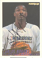 Carlos Rogers Golden State Warriors 1994 Fleer Autographed Card - Nice Autograph. This item comes with a certificate of authenticity from Autograph-Sports. PSM-Powers Sports Memorabilia