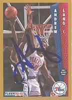 Andrew Lang Philadelphia 76ers 1992 Fleer Autographed Card - Nice Autograph. This item comes with a certificate of authenticity from Autograph-Sports. PSM-Powers Sports Memorabilia
