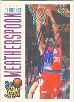 Clarence Weatherspoon Philadelphia 76ers 1994 Upper Deck Autographed Card - Nice Autograph. This item comes with a certificate of authenticity from Autograph-Sports. PSM-Powers Sports Memorabilia