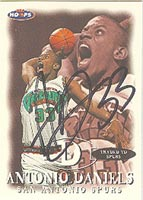 Antonio Daniels San Antonio Spurs 1998 Hoops Autographed Card - Nice Autograph. This item comes with a certificate of authenticity from Autograph-Sports. PSM-Powers Sports Memorabilia