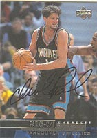 Cherokee Parks Vancouver Grizzlies 1999 Upper Deck Autographed Card - Nice Autograph. This item comes with a certificate of authenticity from Autograph-Sports. PSM-Powers Sports Memorabilia