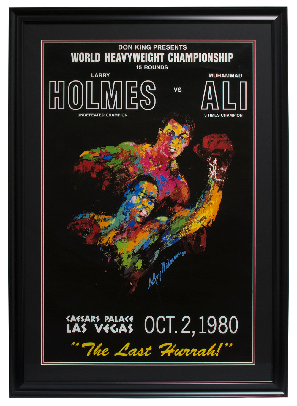 Muhammad Ali vs Larry Holmes October 15 1980 Caesars Palace Framed Fight Poster PSM-Powers Sports Memorabilia