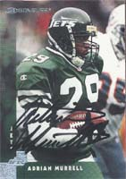 Adrian Murrell New York Jets 1997 Donruss Autographed Card. This item comes with a certificate of authenticity from Autograph-Sports. PSM-Powers Sports Memorabilia
