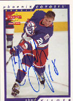 Chad Kilger Winnipeg Jets 1996 Score Rookie Card Autographed Card - Rookie Card. This item comes with a certificate of authenticity from Autograph-Sports. PSM-Powers Sports Memorabilia
