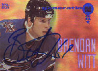 Brendan Witt Washington Capitals 1995 Skybox Next Generation Autographed Card - Rookie Card. This item comes with a certificate of authenticity from Autograph-Sports. PSM-Powers Sports Memorabilia