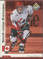 Cory Sarich Team Canada 1998 Upper Deck World Junior Showcase Autographed Card. This item comes with a certificate of authenticity from Autograph-Sports. PSM-Powers Sports Memorabilia