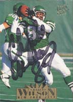 Charles Wilson New York Jets 1995 Fleer Ultra Extra Autographed Card. This item comes with a certificate of authenticity from Autograph-Sports. PSM-Powers Sports Memorabilia