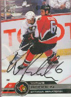 Wade Redden Ottawa Senators 2002 Pacific Autographed Card. This item comes with a certificate of authenticity from Autograph-Sports. PSM-Powers Sports Memorabilia