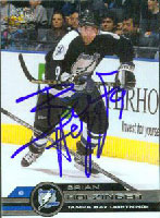 Brian Holzinger Tampa Bay Lightning 2002 Pacific Autographed Card. This item comes with a certificate of authenticity from Autograph-Sports. PSM-Powers Sports Memorabilia
