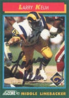Larry Kelm Los Angeles Rams 1992 Score Autographed Card. This item comes with a certificate of authenticity from Autograph-Sports. PSM-Powers Sports Memorabilia