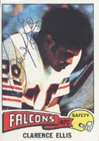 Clarence Ellis Atlanta Falcons 1975 Topps Autographed Card. This item comes with a certificate of authenticity from Autograph-Sports. PSM-Powers Sports Memorabilia