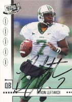 Bryon Leftwich Marshall Thundering Herd - Jacksonville Jaguars 2003 Press Pass JE Autographed Card - Nice Card - Rookie Card. This item comes with a certificate of authenticity from Autograph-Sports. PSM-Powers Sports Memorabilia