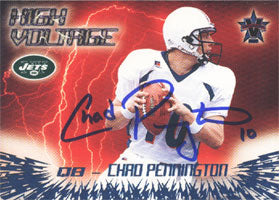 Chad Pennington New York Jets 2000 Pacific Vanguard High Voltage Autographed Card - Awesome Autograph. This item comes with a certificate of authenticity from Autograph-Sports. PSM-Powers Sports Memorabilia