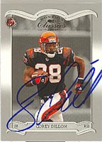 Corey Dillon Cincinnati Bengals 2003 Donruss Classics Autographed Card - Awesome Autograph. This item comes with a certificate of authenticity from Autograph-Sports. PSM-Powers Sports Memorabilia