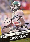 Charles Rogers Michigan State Spartans 2003 Sage Hit Checklist Autographed Card - Nice Card. This item comes with a certificate of authenticity from Autograph-Sports. PSM-Powers Sports Memorabilia