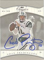 Chad Pennington New York Jets 2001 Donruss Classics Autographed Card. This item comes with a certificate of authenticity from Autograph-Sports. PSM-Powers Sports Memorabilia