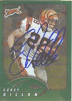 Corey Dillon Cincinnati Bengals 2002 Topps Chrome Autographed Card. This item comes with a certificate of authenticity from Autograph-Sports. PSM-Powers Sports Memorabilia