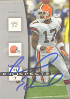 Braylon Edwards Cleveland Browns 2006 Fleer Hot Prospects Autographed Card - Sweet Card. This item comes with a certificate of authenticity from Autograph-Sports. PSM-Powers Sports Memorabilia