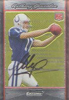 Anthony Gonzalez Indianapolis Colts 2007 Bowman Chrome Rookie Autographed Card - Nice Autograph. This item comes with a certificate of authenticity from Autograph-Sports. PSM-Powers Sports Memorabilia