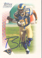 Torry Holt St. Louis Rams 2005 Topps Draft Picks and Prospects Autographed Card - Nice Card. This item comes with a certificate of authenticity from Autograph-Sports. PSM-Powers Sports Memorabilia