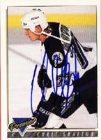 Chris Gratton Tampa Bay Lightning 1994 Topps Premier Autographed Card. This item comes with a certificate of authenticity from Autograph-Sports. PSM-Powers Sports Memorabilia