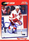 Jimmy Carson Detroit Red Wings 1991 Score Autographed Card. This item comes with a certificate of authenticity from Autograph-Sports. PSM-Powers Sports Memorabilia