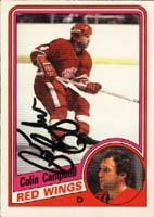 Colin Campbell Detroit Red Wings 1984 Opee Chee Autographed Card. This item comes with a certificate of authenticity from Autograph-Sports. PSM-Powers Sports Memorabilia