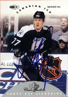 Chris Gratton Tampa Bay Lightning 1996 Donruss Canadian Ice Autographed Card. This item comes with a certificate of authenticity from Autograph-Sports. PSM-Powers Sports Memorabilia