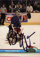 Bob Essensa Winnipeg Jets 1991 Stadium Club Autographed Card. This item comes with a certificate of authenticity from Autograph-Sports. PSM-Powers Sports Memorabilia