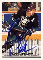 Bob Corkum Anaheim Mighty Ducks 1995 Topps Autographed Card. This item comes with a certificate of authenticity from Autograph-Sports. PSM-Powers Sports Memorabilia
