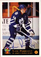 Yanic Perreault Toronto Maple Leafs 1994 Classic Draft Picks Autographed Card - Rookie Card. This item comes with a certificate of authenticity from Autograph-Sports. PSM-Powers Sports Memorabilia