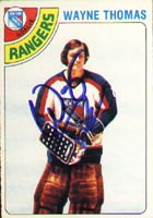 Wayne Thomas New York Rangers 1978 Opee Chee Autographed Card. This item comes with a certificate of authenticity from Autograph-Sports. PSM-Powers Sports Memorabilia
