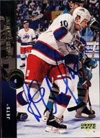 Alexei Zhamnov Winnipeg Jets 1994 Upper Deck Autographed Card. This item comes with a certificate of authenticity from Autograph-Sports. PSM-Powers Sports Memorabilia