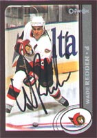 Wade Redden Ottawa Senators 2002 Opee Chee Autographed Card. This item comes with a certificate of authenticity from Autograph-Sports. PSM-Powers Sports Memorabilia